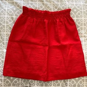 J.Crew City Mini Skirt in Red Size 0